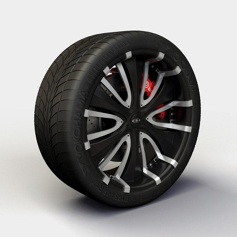 baccarat passion rims tyre 3d 3ds