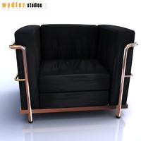le corbusier sofa lc2 3d max