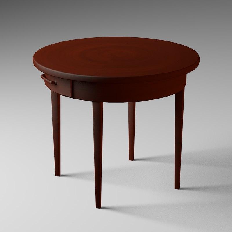 antique table 3ds