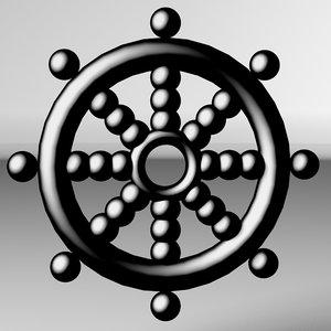 c4d pirate ship wheel