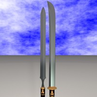 3d yari naginata model