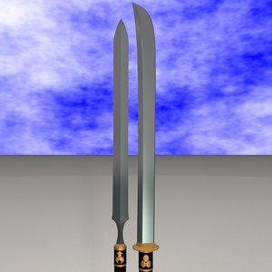 3d yari naginata model