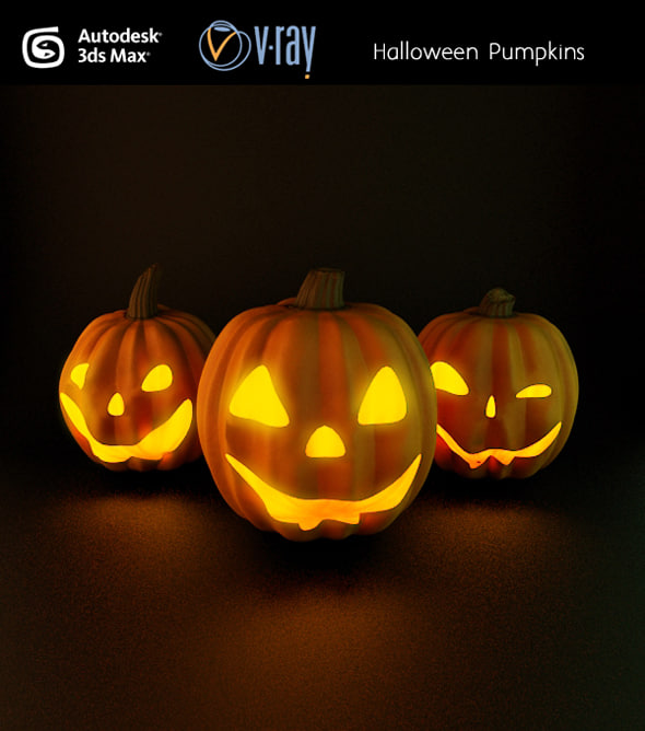 3dsmax halloween pumpkins