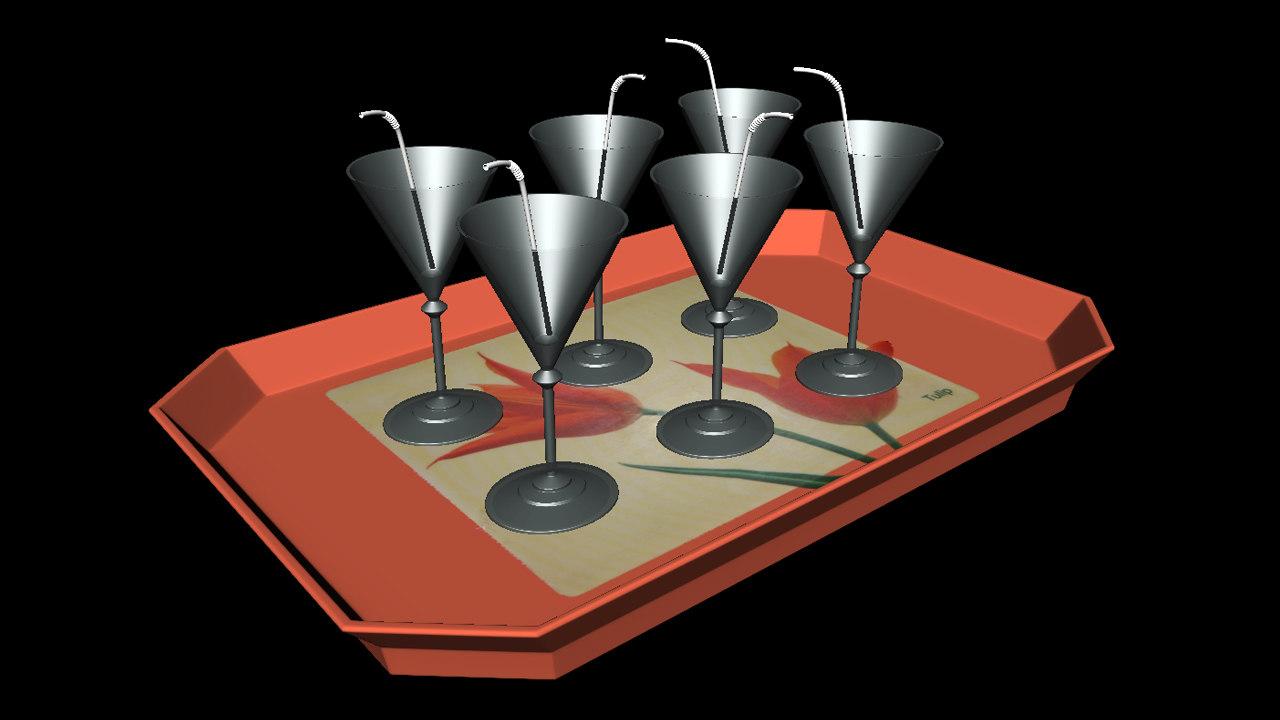 3d juice tray model