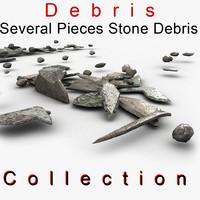3d debris stone slim