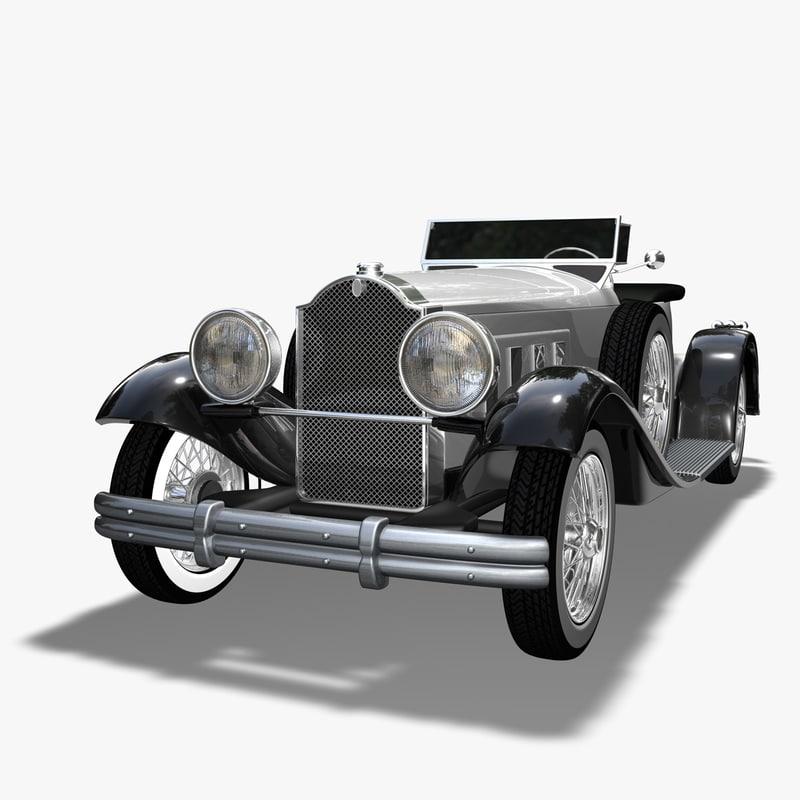 packard speedster 1930 car 3d c4d