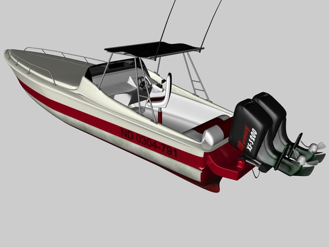 boat speedboat 3d model