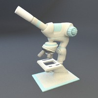 3d model concept microscope micro