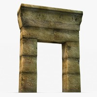 egyptian gate 3d model