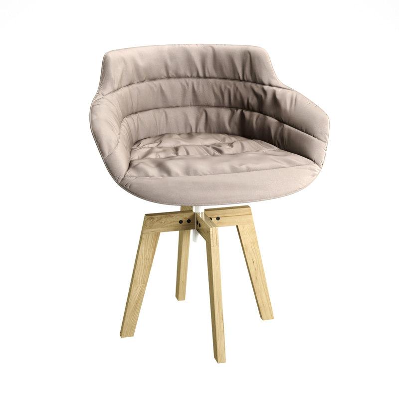armchair mdf italia 3d max