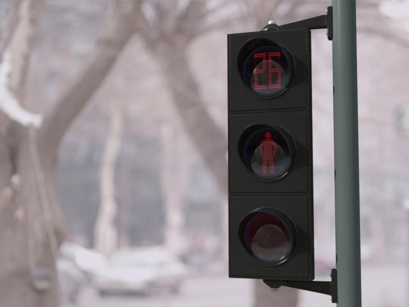 3d traffic lights model