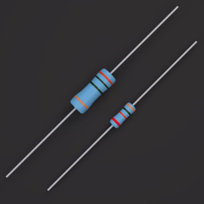 3d x metal film resistors