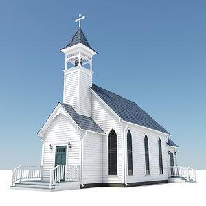 chapel 3d model