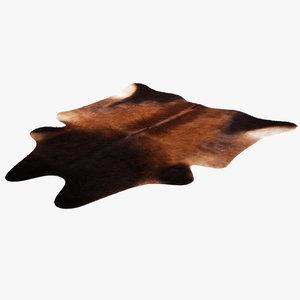 cowhide rug 3d max
