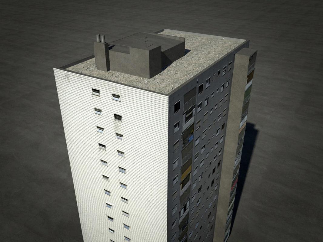 3d model block tower