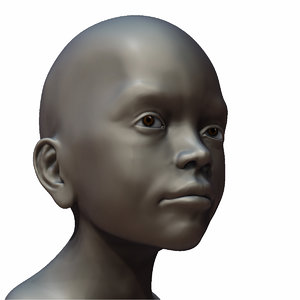 free young boy head 3d model