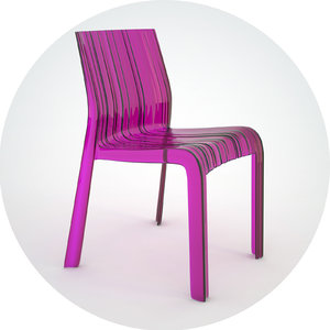 3dsmax kartell frilly chair
