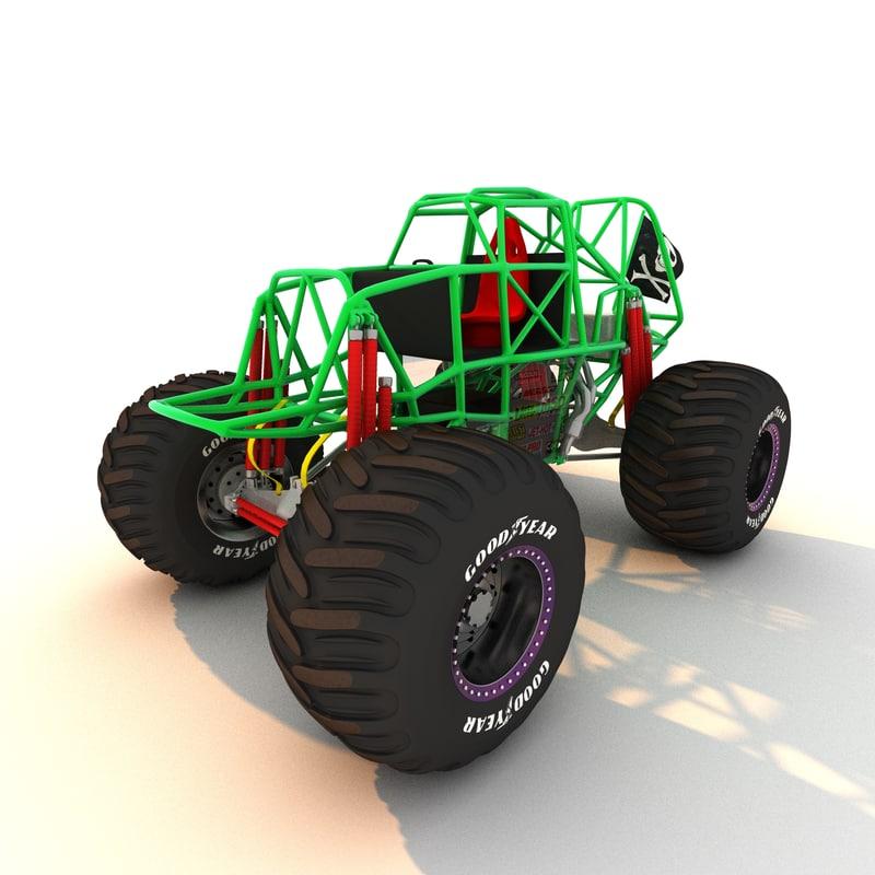 3dsmax monster truck frame
