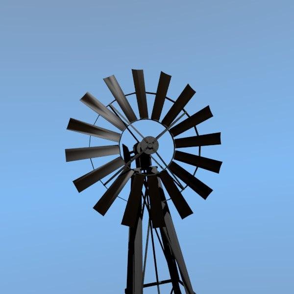 free obj model windmill