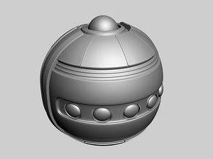 sci fi grenade 3d max