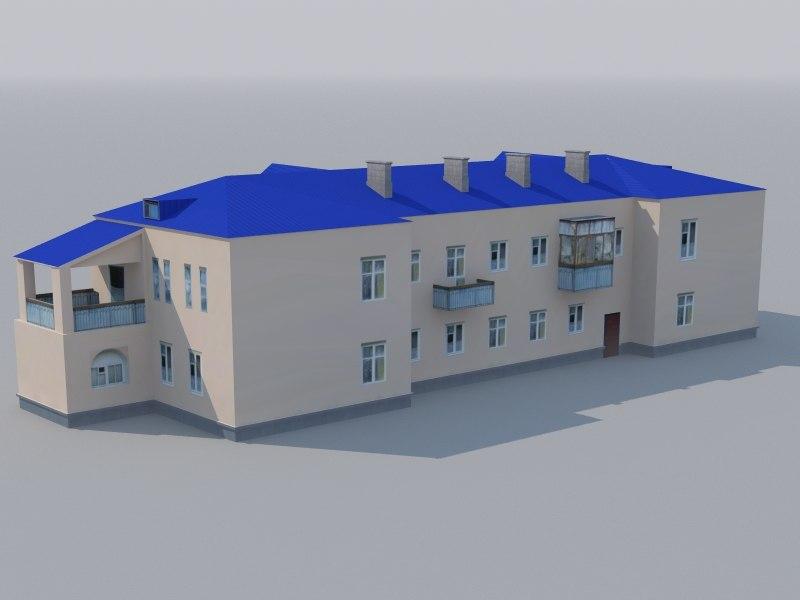 low-polygonal building games 3d model