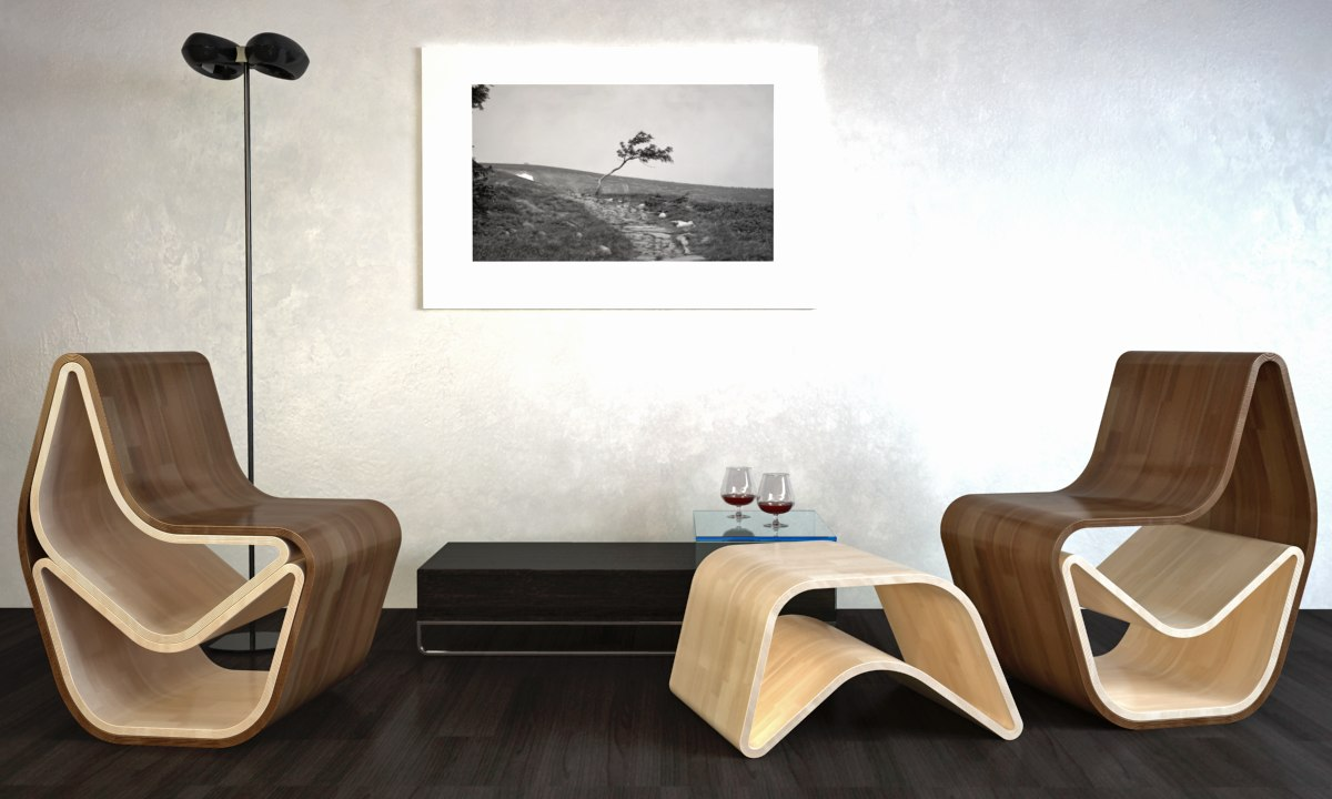 3d model organic gval chair