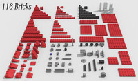 116 Lego Bricks