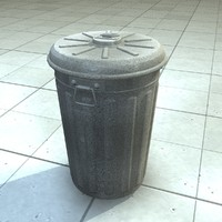 3d trashcan trash bin model