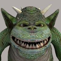 3d model character goblin chizbolt fantasy