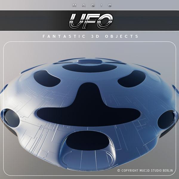 ufo sci fi 3d obj