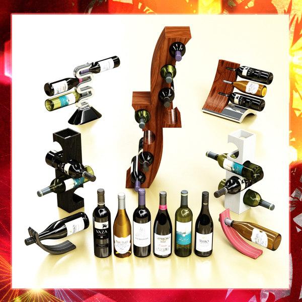 3d 3ds wine rack 6 bottles