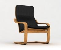 ikea poang armchair 3d model