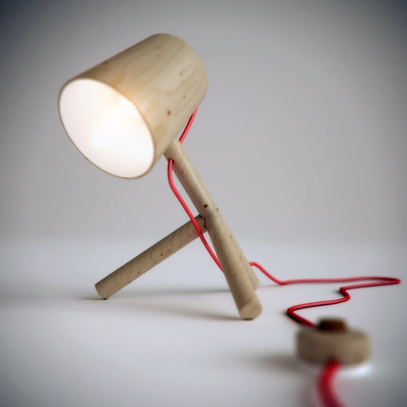 little man table lamp 3d model