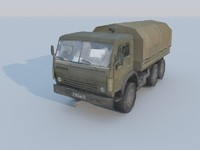 KAMAZ 3D  Track low-poly