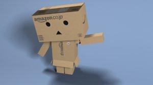 3d model danbo character cardboard