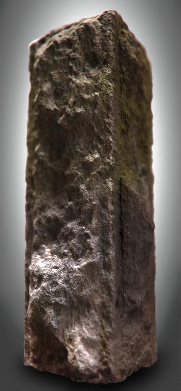 milestone stone 3d model