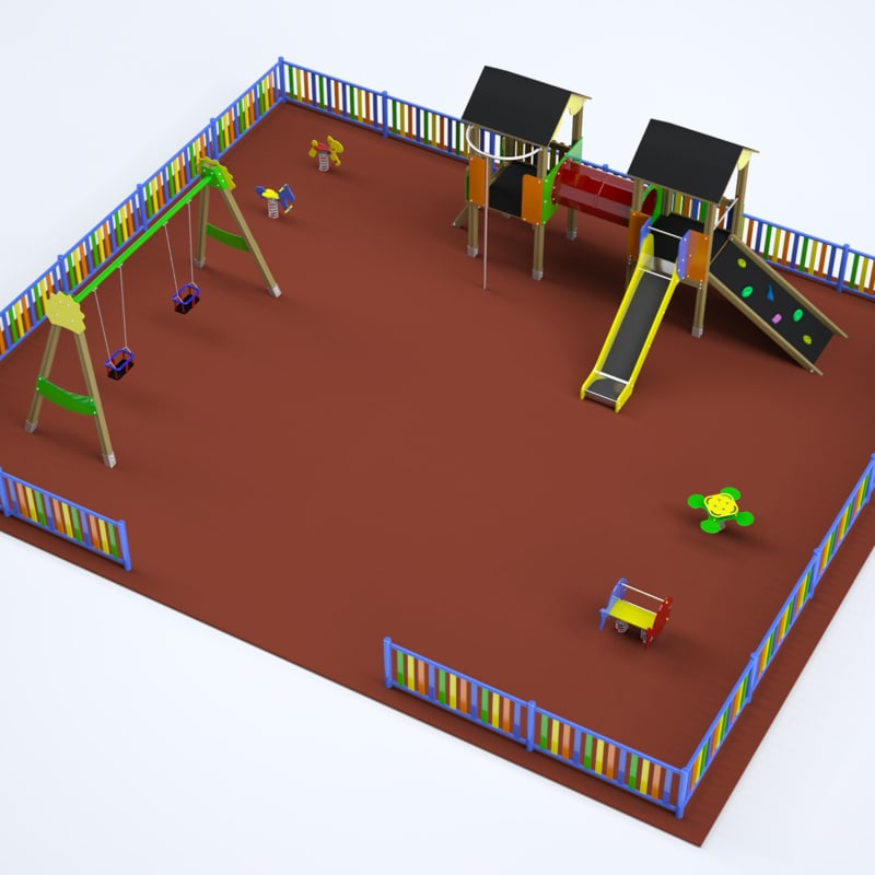 3ds max complete playgrounds set