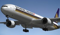 3d model boeing 777-300 singapore airlines