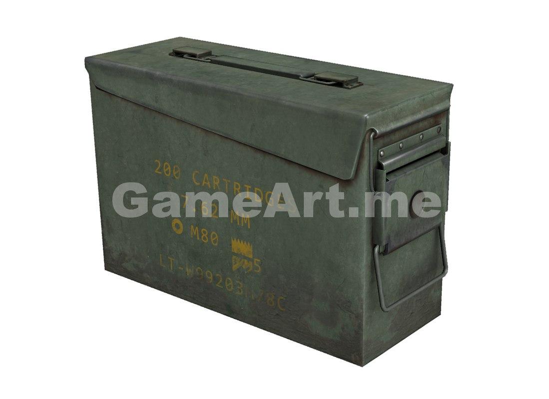 ready ammunition box rifle bullet 3d max