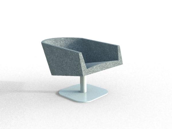 3d model designed armchair