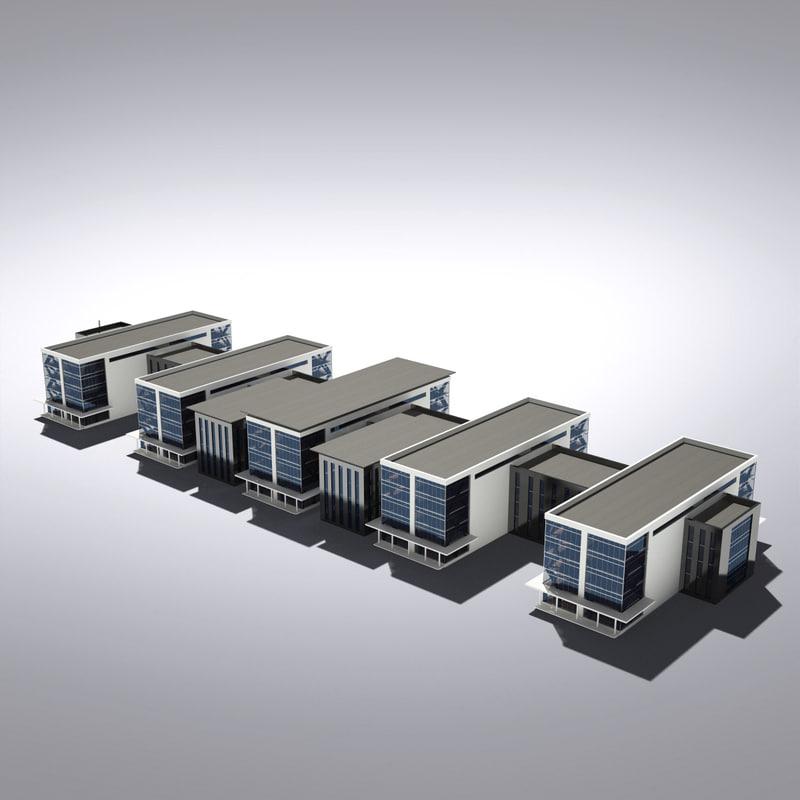 3d max modern generic building