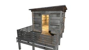 3d x beach hut