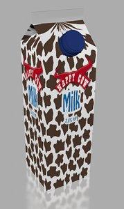 3d model milk brick