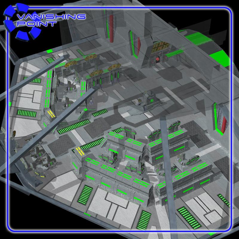 bridge starships 3d model
