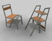 chair stair 3d model