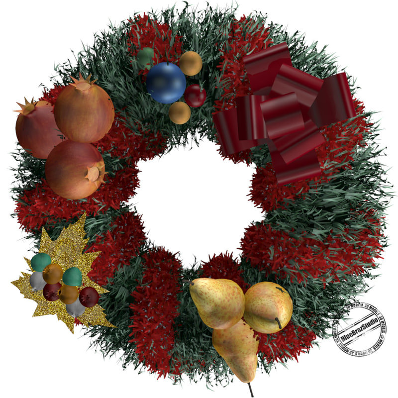 3ds christmas wreath