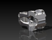 3d model of mountain bike stem