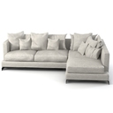 Flexform Long Island corner sectional  sofa