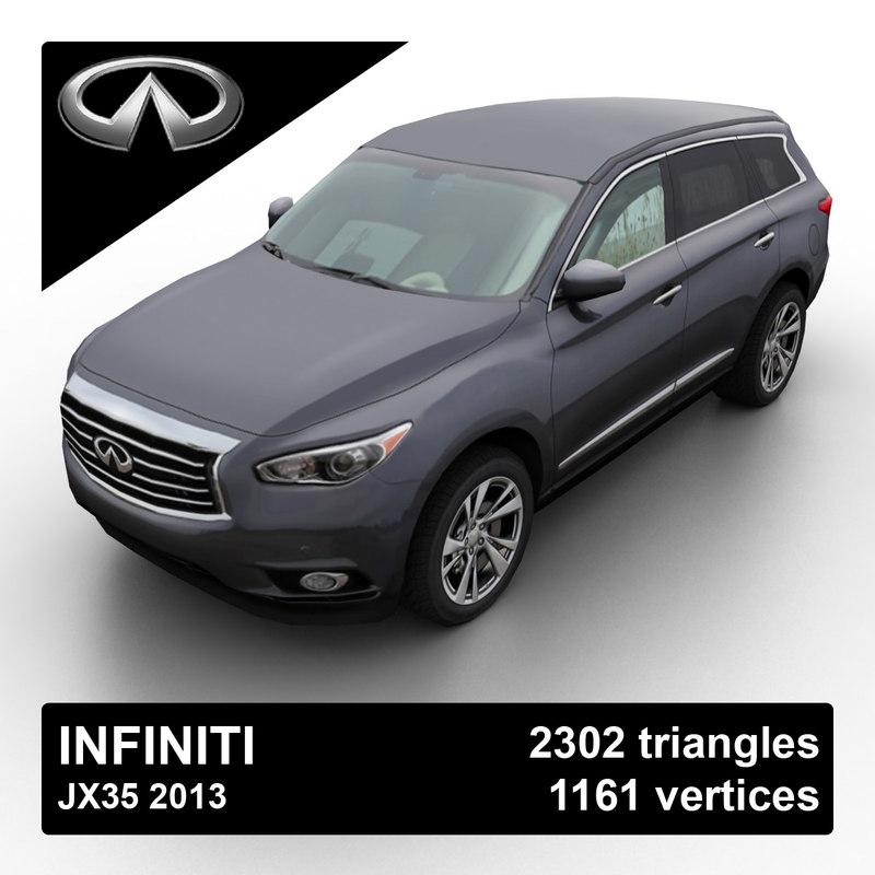 2013 infiniti jx35 3d max