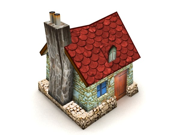 3ds cartoon house